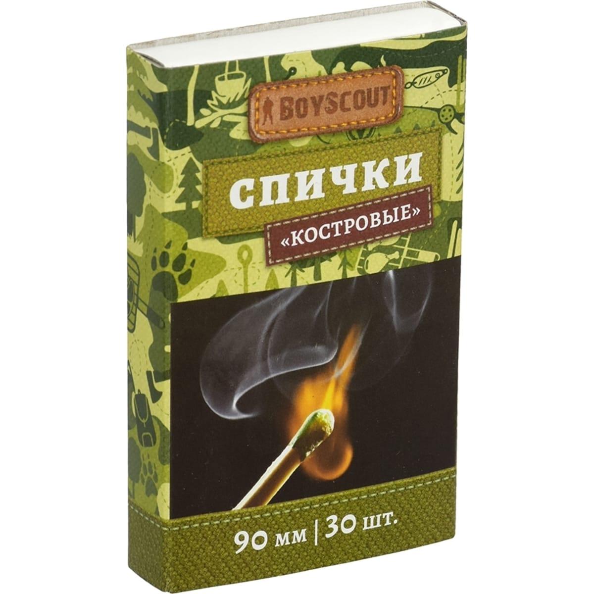Спички костровые Boyscout 90 мм, 30 шт.