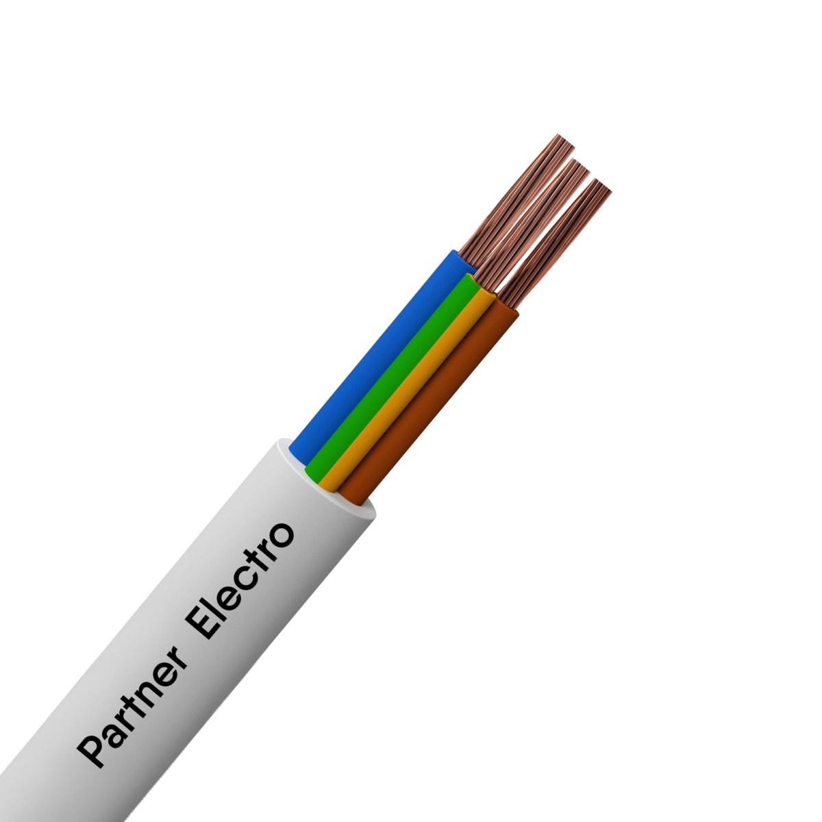 Провод Партнер-Электро ПВС 3x1.5, на отрез, ГОСТ