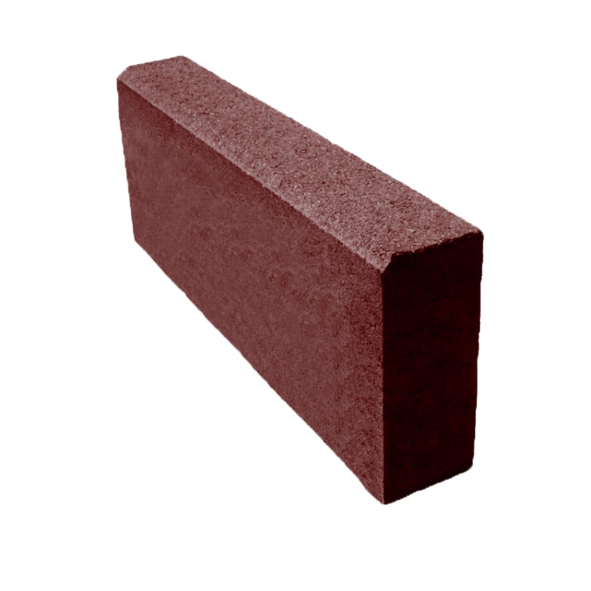 Бордюр тротуарный 500х200х80 мм красный