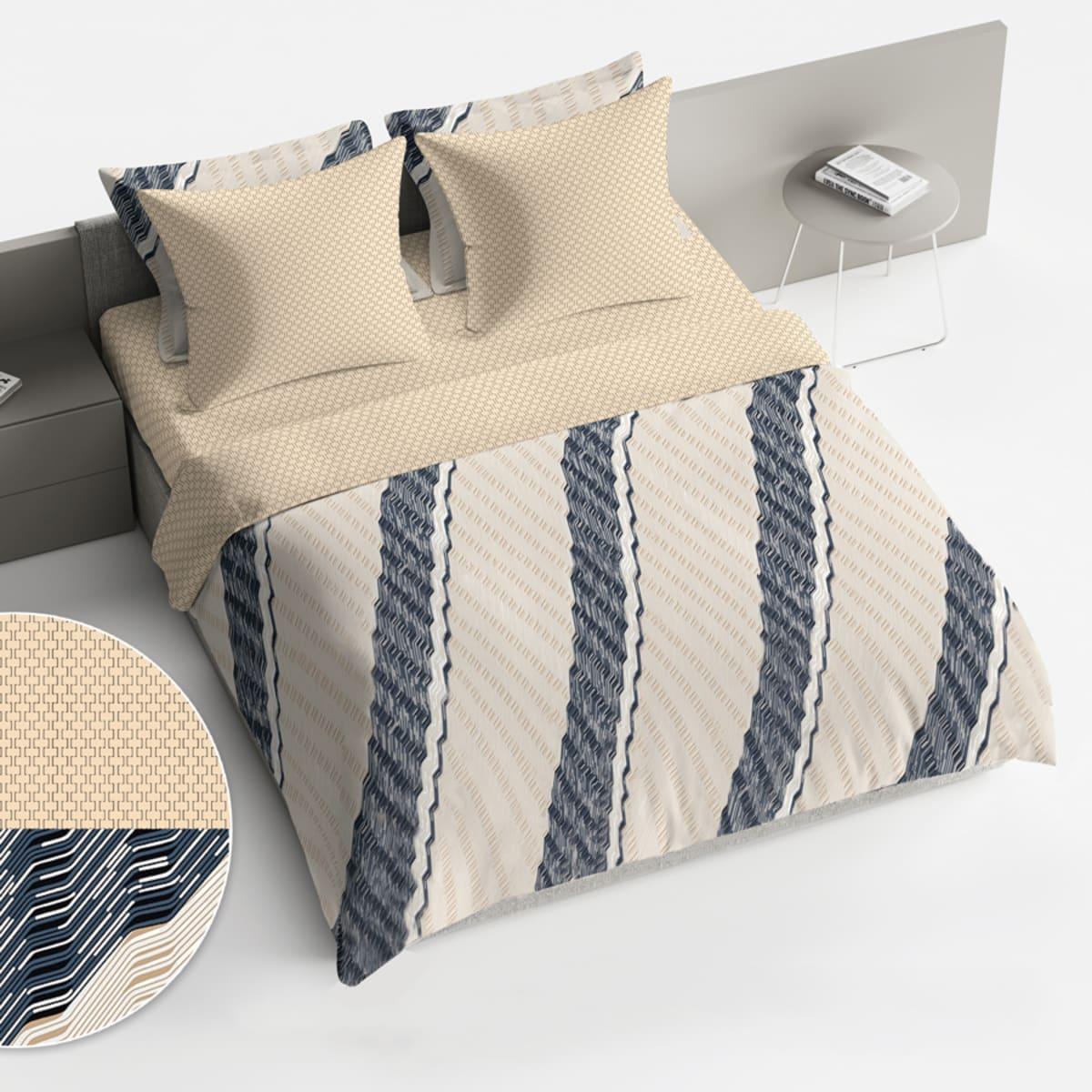 Комплект постельного белья «Диагональ» двуспальный, поплин