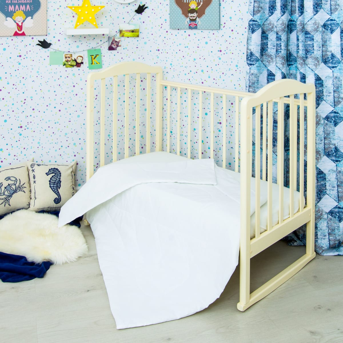 Одеяло детское Сонный гномик, 140х110, бамбук