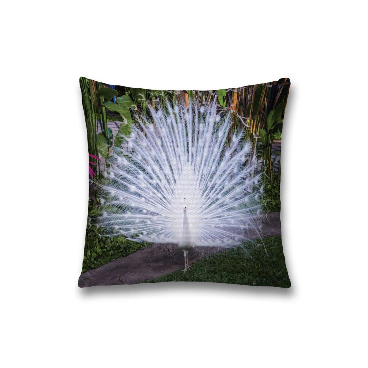 Наволочка декоративная «Сияющий павлин» 45x45см, оксфорд