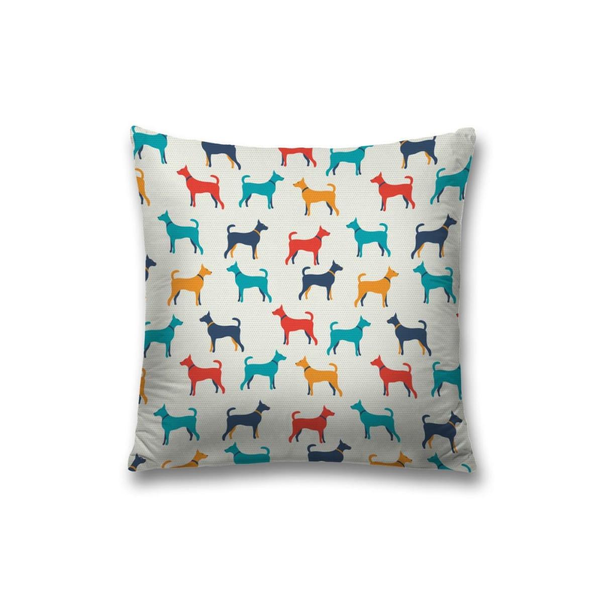 Наволочка декоративная «Радужные собаки» 45x45см, оксфорд