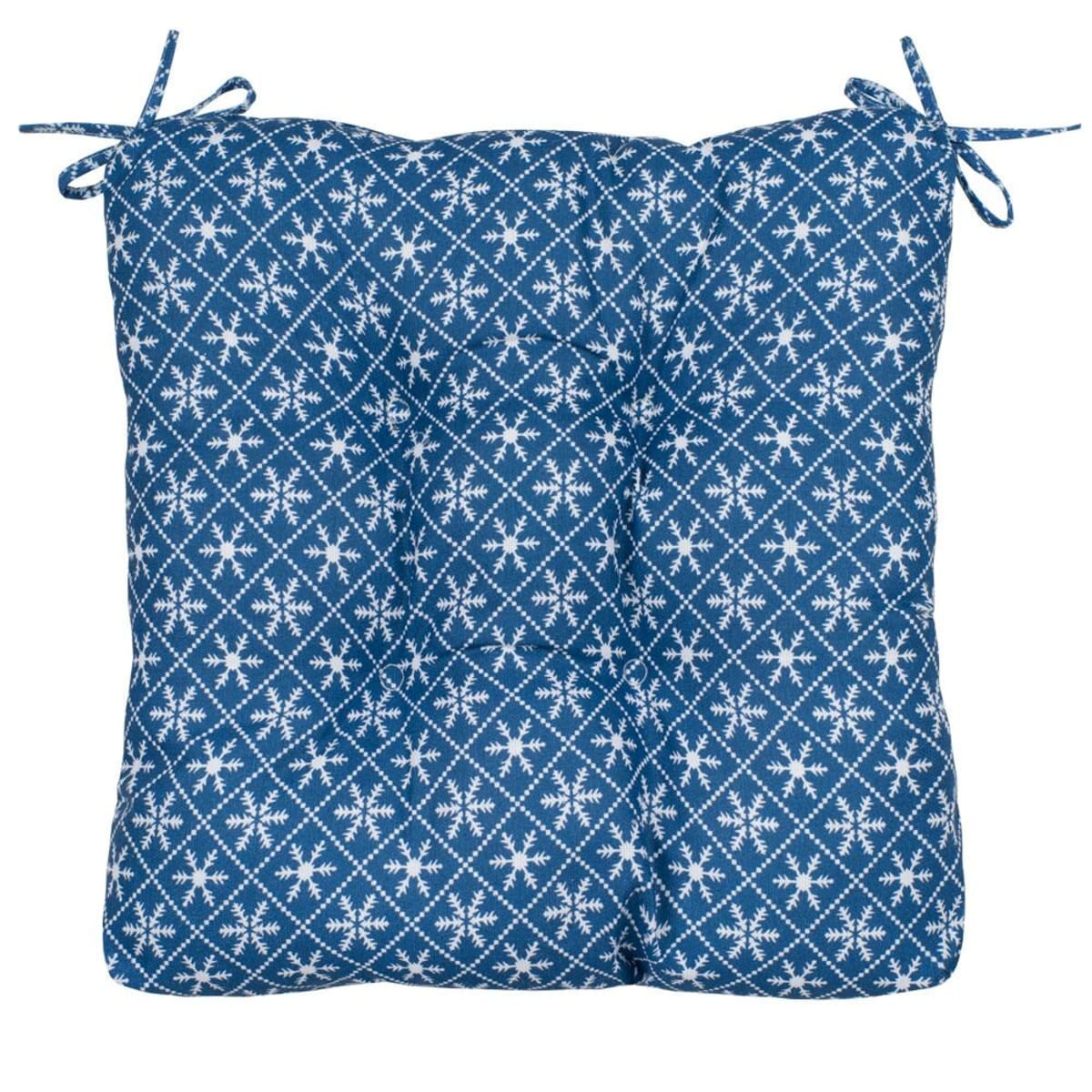 Подушка на стул Guten Morgen «Снежинки синие», 40х40 см