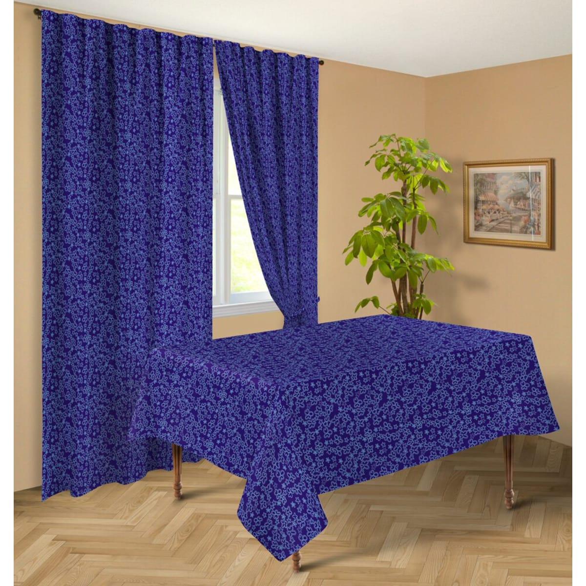 Скатерть Guten Morgen «Синие Цветы», 145х150 см