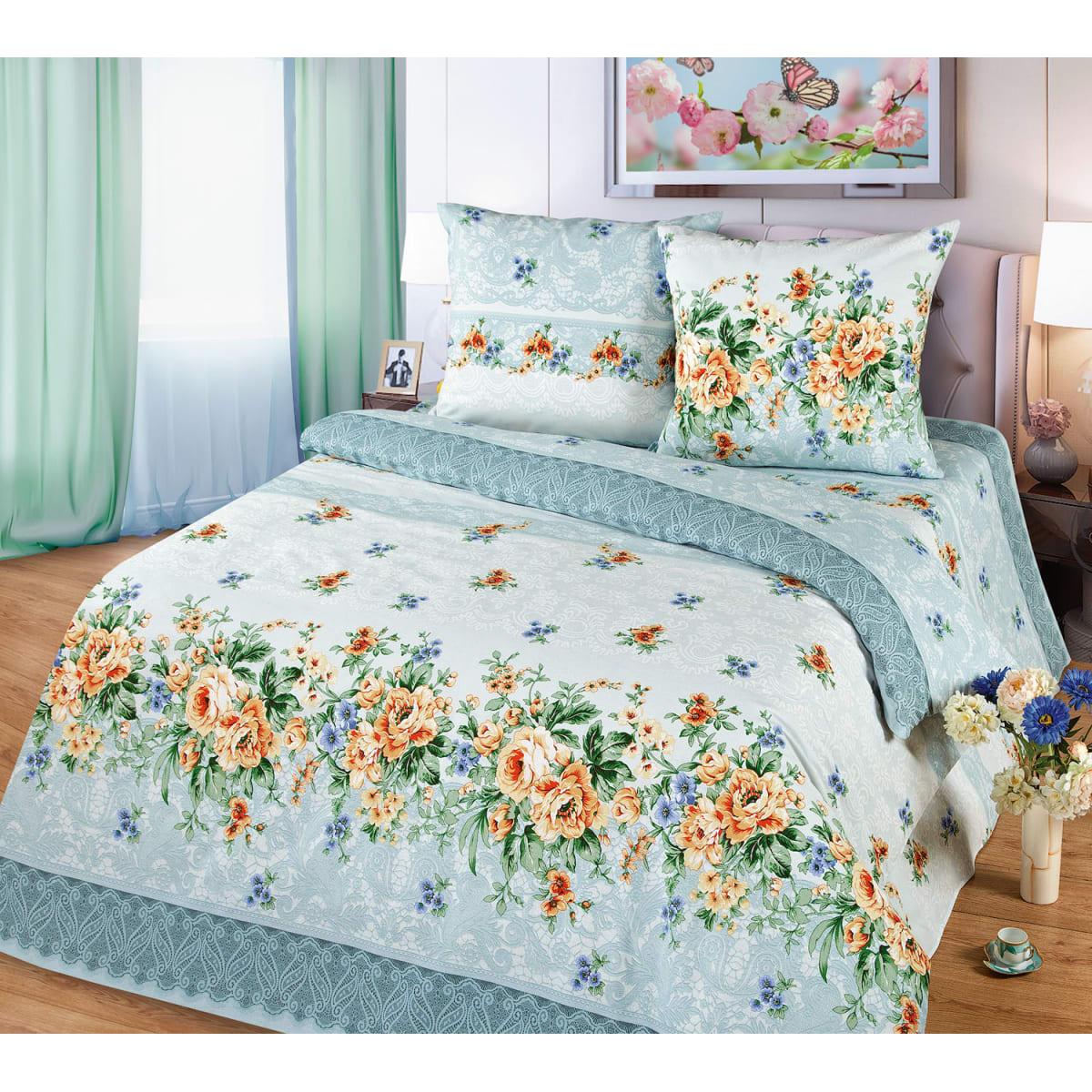 Комплект постельного белья MILANIKA Валенсия двуспальный, бязь, 70x70 см