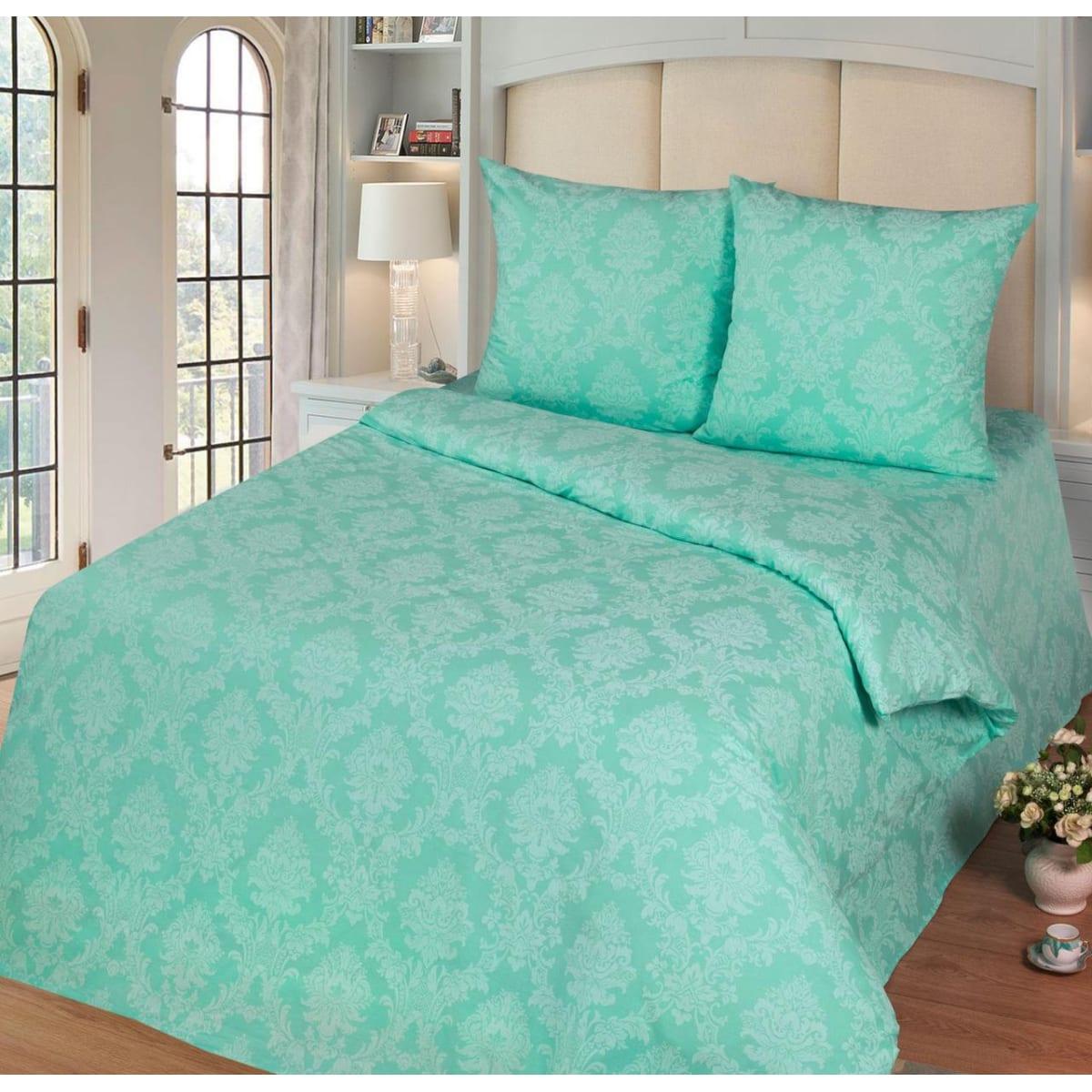 Комплект постельного белья MILANIKA Бирюза полутораспальный, поплин
