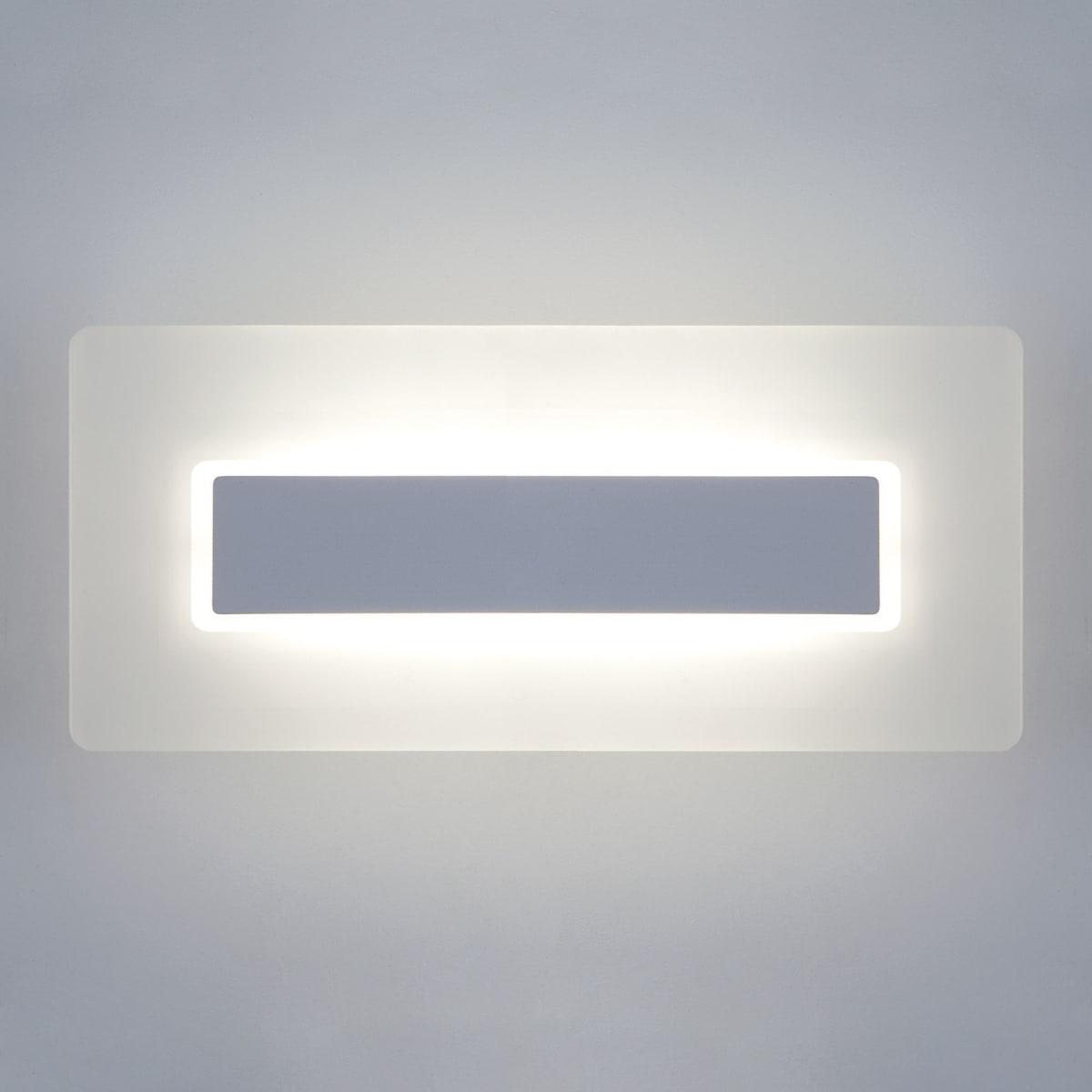 Бра светодиодный Eurosvet 40130/1 LED сатин-никель белый свет цвет серебряный