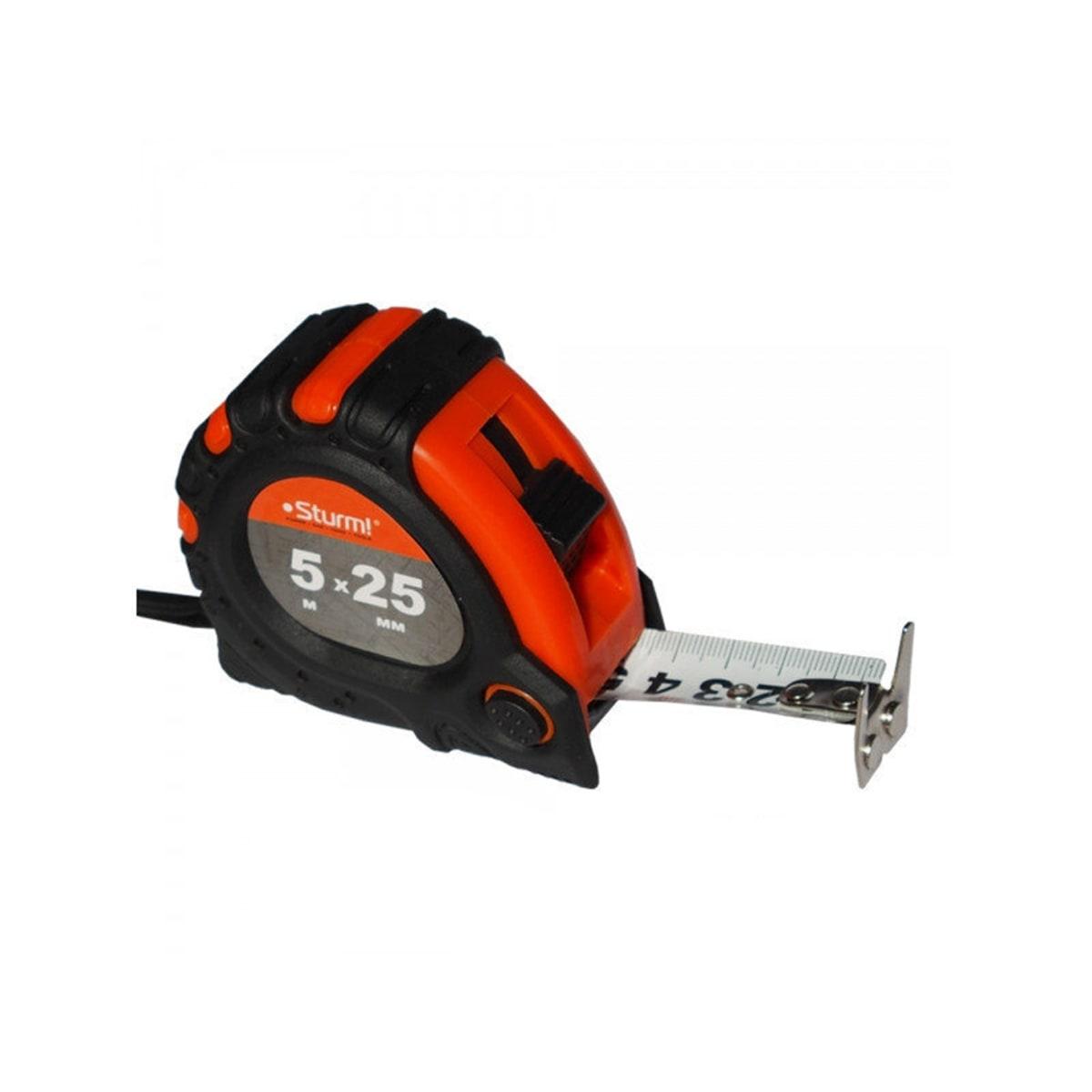 Карманная рулетка Sturm! 3100102 5х25мм в обрезиненный корпус с усиленным магнитом