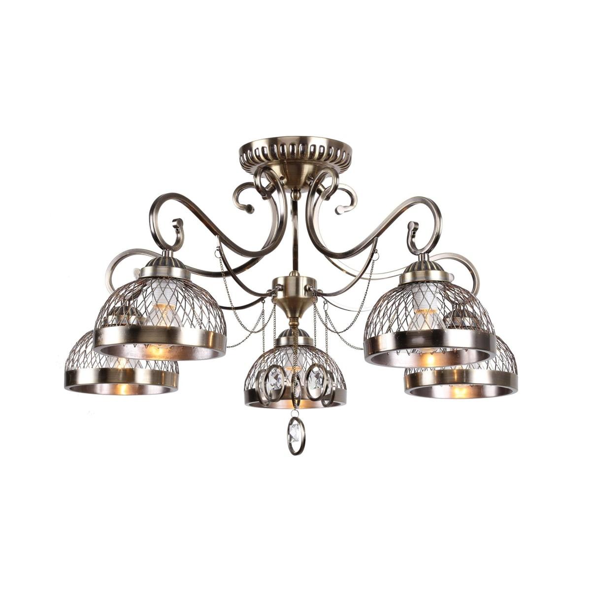 Люстра Rivoli Cofanetto 5032-305 Е27 5 ламп 14 м²