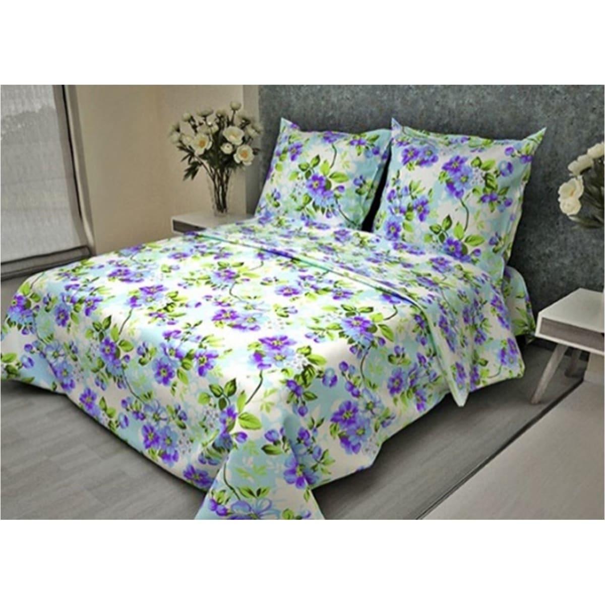 Комплект постельного белья евро FIORELLY  Яблоневый цвет, бязь, 70x70 см