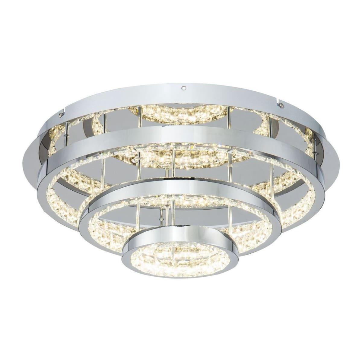 Потолочный светильник Freya Dome FR6004CL-L35CH, LED белый свет 17.50 м² цвет серебряный