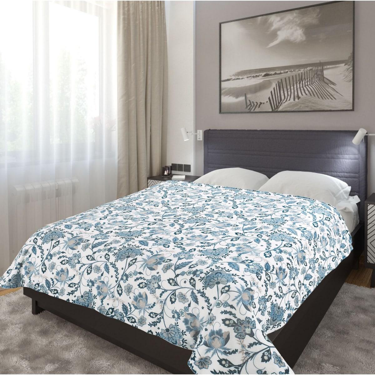 Плед TexRepublic Absolute flannel Цветы 150х200 см, фланель