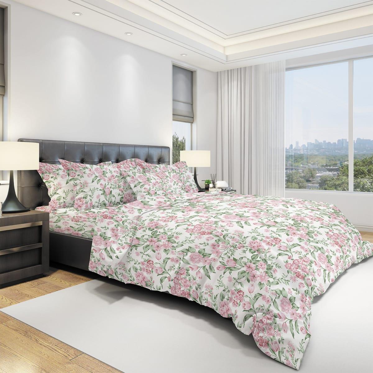 Комплект постельного белья семейный Amore Mio Primavera, бязь