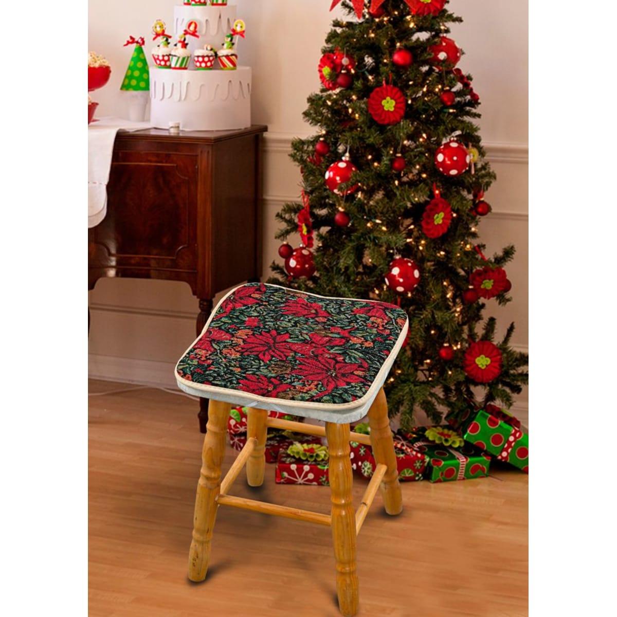 Подушка на стул Guten Morgen Пуансеттия 34х34 см