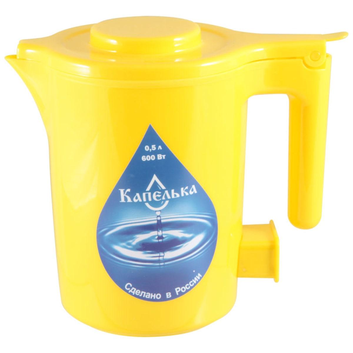 Чайник электрический Капелька Желтый 0,5л