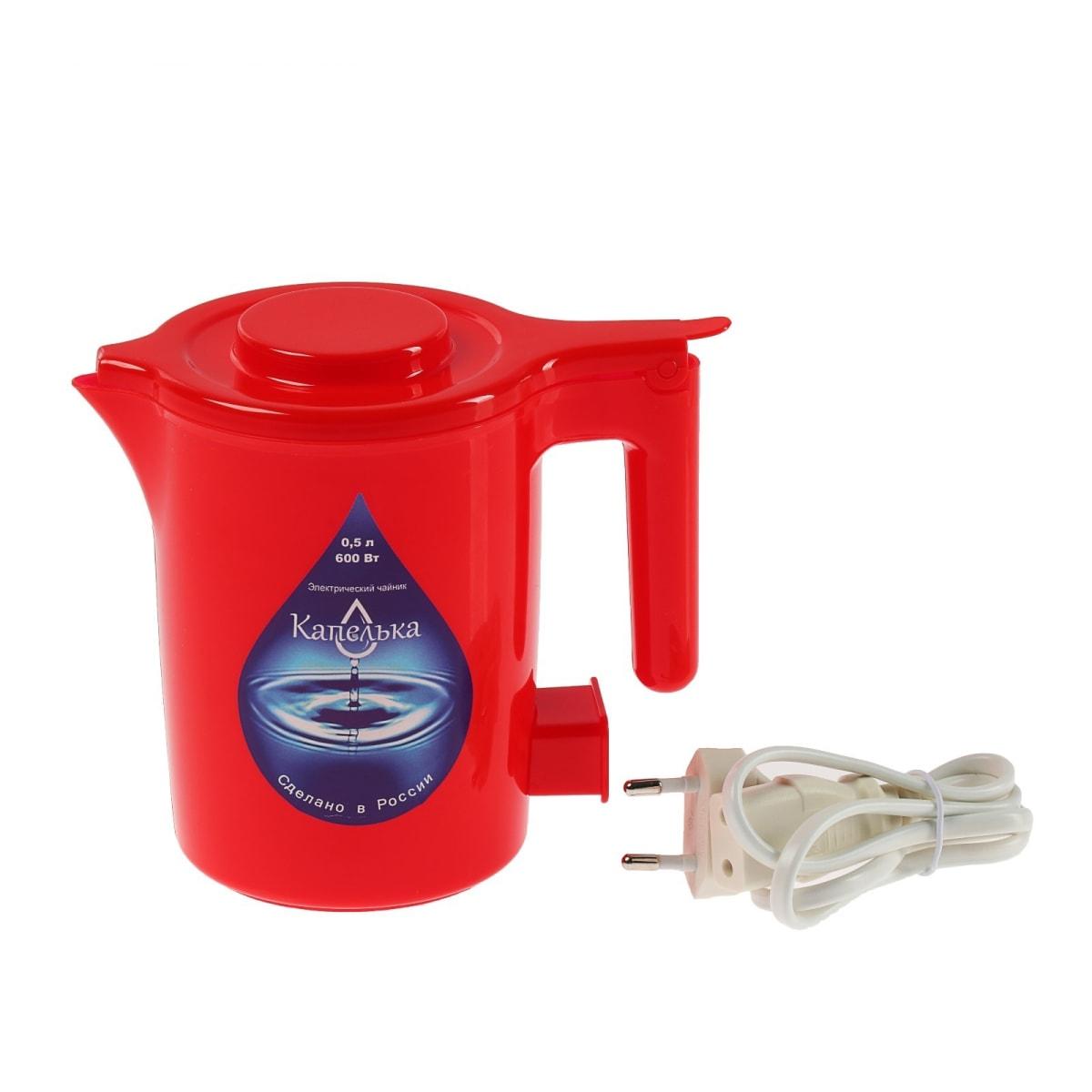 Чайник электрический Капелька Красный 0,5л