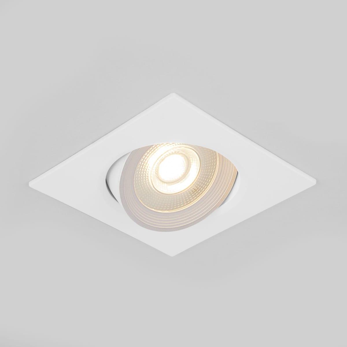 Светильник встраиваемый светодиодный Elektrostandard 9915 LED, белый под отверстие 75 мм нейтральный свет