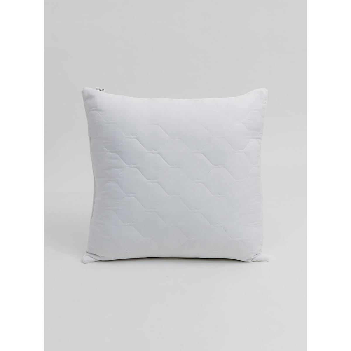Подушка Selena Crinkle line 70х70 см, искусственный пух, цвет белый