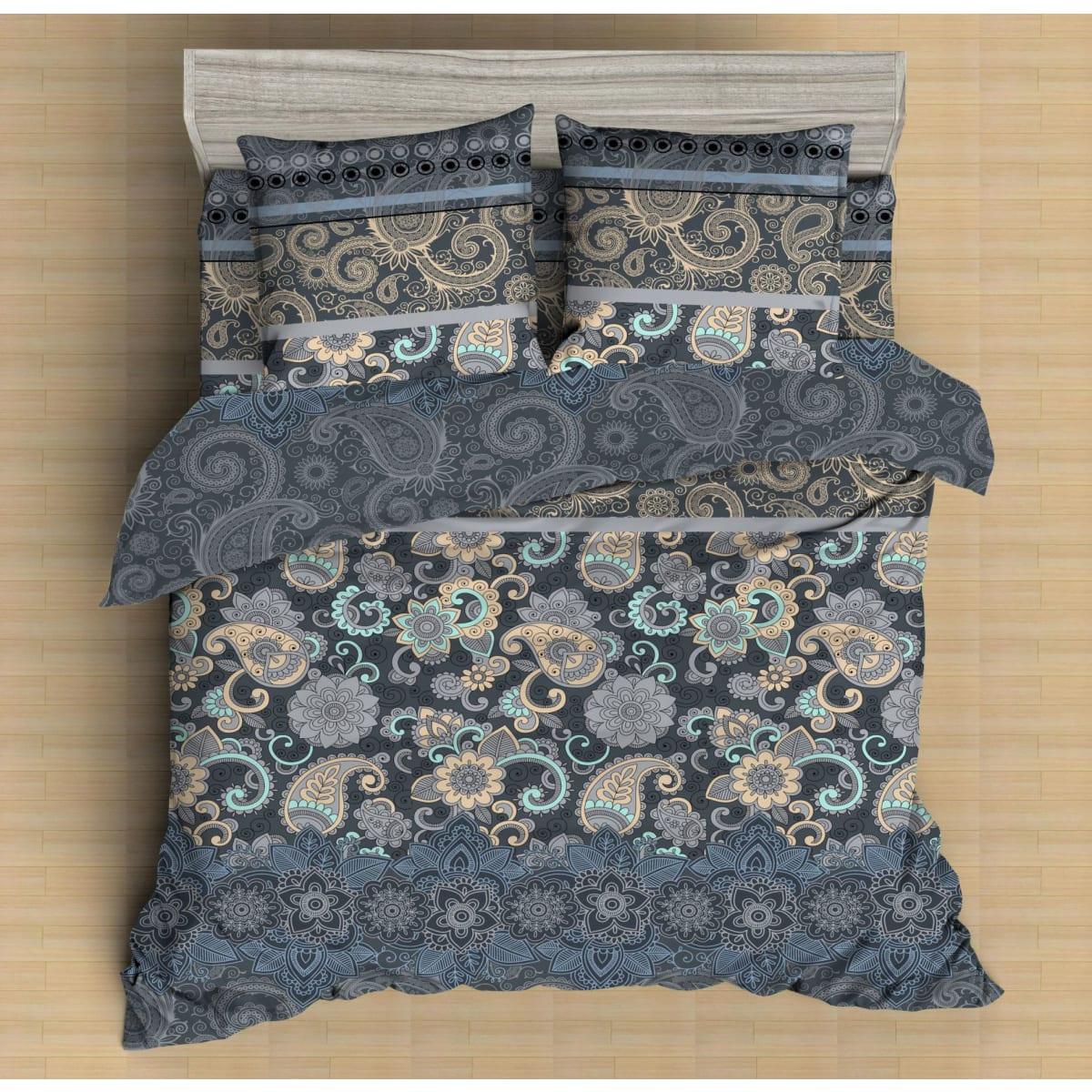 Комплект постельного белья двуспальный Amore Mio Paisley 17053, микрофибра