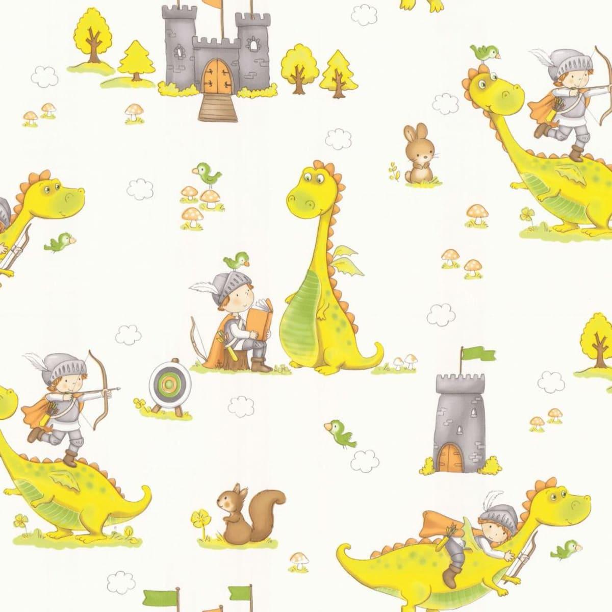 Обои флизелиновые Home Color Dino желтые HC71371-17 1.06 м
