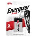 Батарейка алкалиновая Energizer Max 9V/6LR61, 9 В, 1 шт.