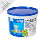 Краска акриловая для кухни и ванной Радуга-26 цвет белый 14 кг