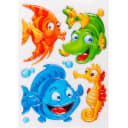 Наклейка 3D «Рыбки» POA 1010