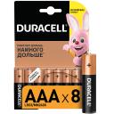 Батарейка алкалиновая Duracell AAA/LR03 8 шт
