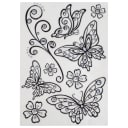 Наклейка влагостойкая «Бабочки» POA 5803