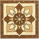 Вставка «Бавария» 6х6 см цвет коричневый