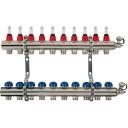"""Коллекторная группа Uni-Fitt со встроенными расходомерами, 1""""х3/4"""", 10 выходов"""
