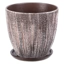 Горшок цветочный Меланж ø15 h13.5 см v0.8 л керамика коричневый/бежевый