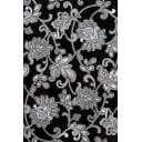Декор «Аджанта цветы» 20х30 см цвет чёрный