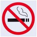 Наклейка «Не курить» маленькая пластик