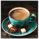 Картина на стекле 30х30 см «Чашка кофе»