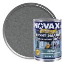 Эмаль молотковая Novax 3в1 цвет серый 0.9 кг