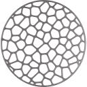 Решётка в мойку 30х30 см цвет металлик