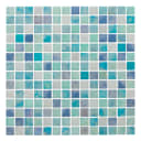 Мозаика Artens «Wave», 30х30 см, стекло, цвет голубой