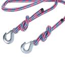 Трос верёвочный №1, 2 крюка, 5 м, 5 т