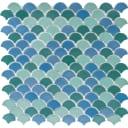 Мозаика стеклянная Soul 31.7x30.7 см цвет зелёный