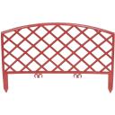 Забор декоративный «Плетёнка», 3.2 м, цвет терракот
