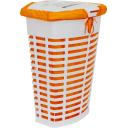 Корзина для белья с чехлом, 470х360х600 мм, цвет оранжевый