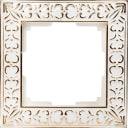 Рамка для розеток и выключателей Werkel Antik 1 пост, металл, цвет белое золото