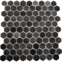 Мозаика стеклянная Hex Antislip 31.7х30.7 см цвет черный