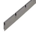 Профиль грильято Албес папа 100x100x40 мм серый 0.6 м