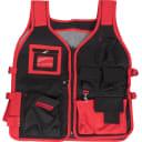 Жилет для инструмента Matrix, 510х600 мм, полиэстер, цвет чёрный/красный