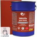 Эмаль для пола Простокраска атласная цвет красно-коричневый 5 кг