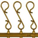 Крючки декоративные, пластик, цвет золотой, 33 шт.