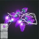 Гирлянда светодиодная Uniel «Виноград» на батарейках 4 м цвет фиолетовый
